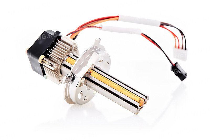 Продуманная конструкция светодиодных ламп Moonlight H4-18W дает правильную СТГ