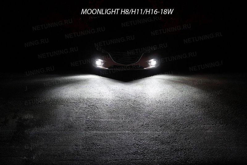 Включенные светодиодные лампы MoonLight H27-18W