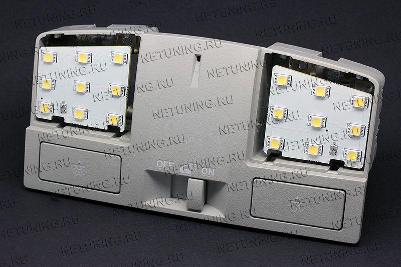 Светодиоды распределены по всей площади ламп