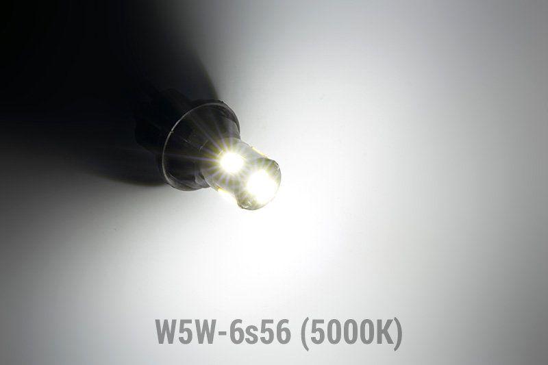 Свечение светодиодной лампы Solarzen W5W-6s56