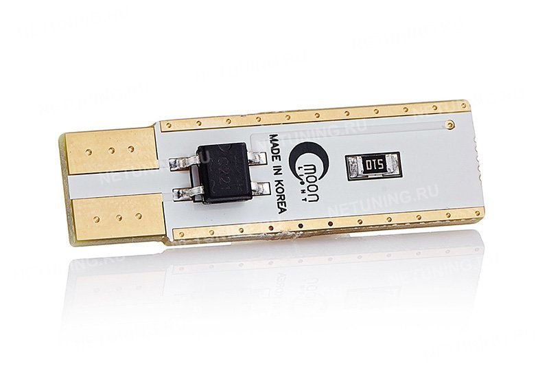 Светодиодная лампа MoonLight W5W-3s54s с позолоченными контактами