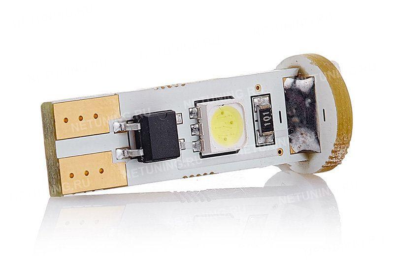 Светодиодная лампа MoonLight W5W-4s54 с позолоченными контактами