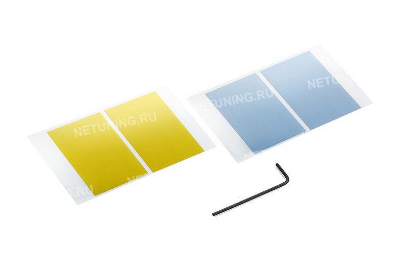 Наклейки можно наклеить для изменения цвета свечения. Идут в комплекте с лампами H4-x3