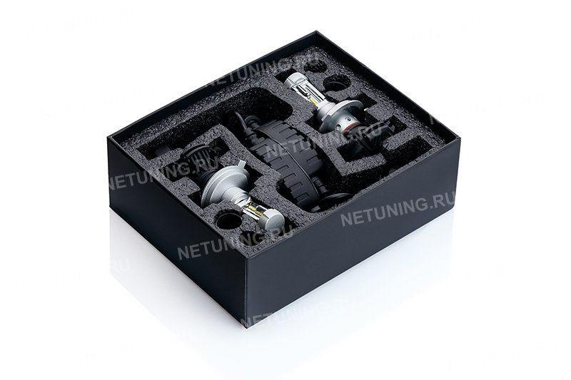 Комплект автомобильных светодиодных ламп H4-G7s с защитными трубками