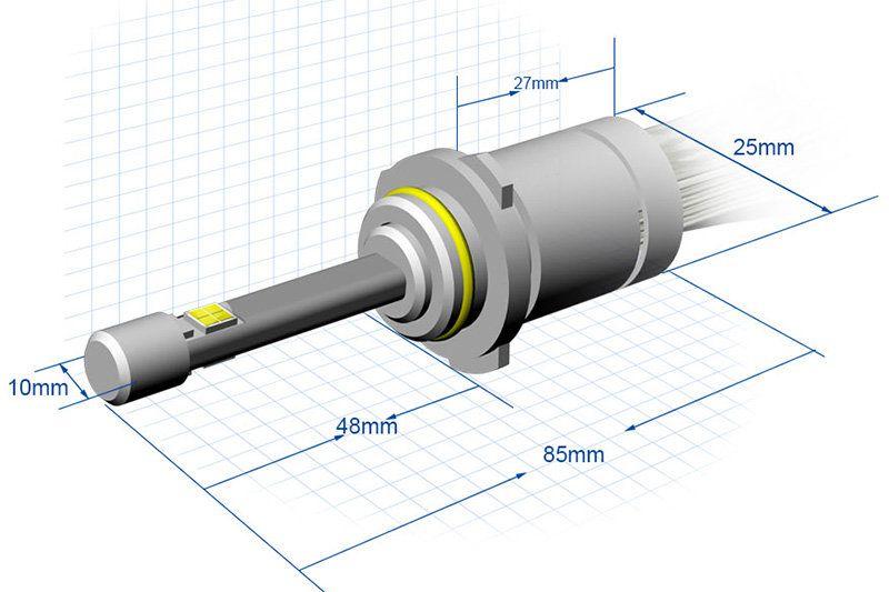 Лампа HB4-R3A не имеет вентилятора