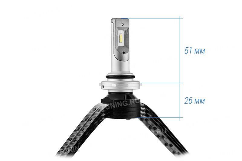 Размеры лампы HB4-XD