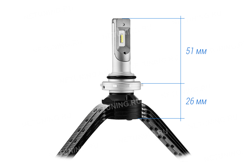 Размеры лампы HB3-XD