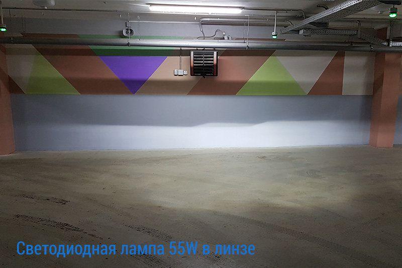 Светодиодные лампы H9-55W более чем в два раза ярче галогенных ламп