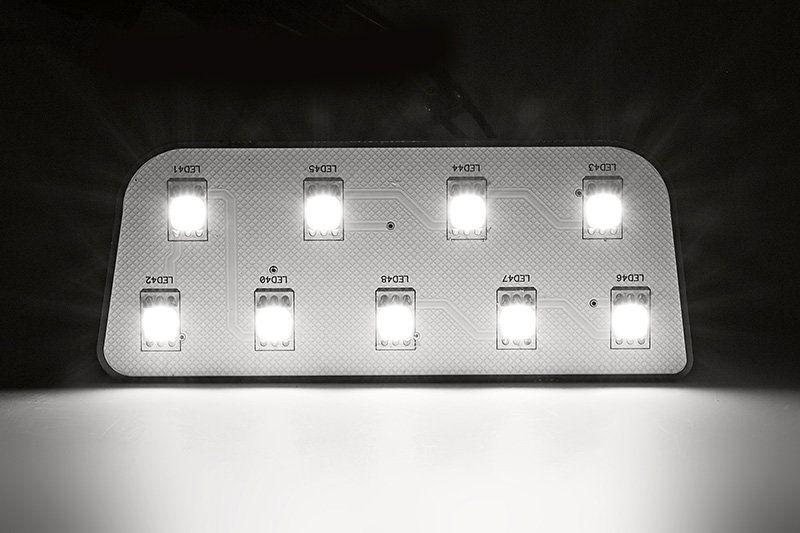 Лампы набора намного ярче штатных ламп