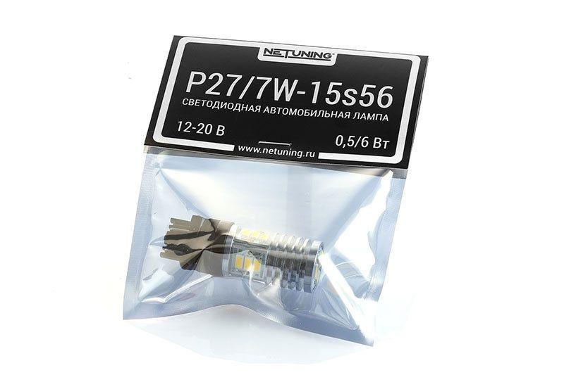Светодиодная автомобильная лампа P27/7W-15s56