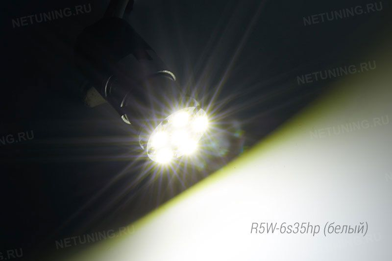 Вкелюченная светодиодная лампа R5W-6s35hp
