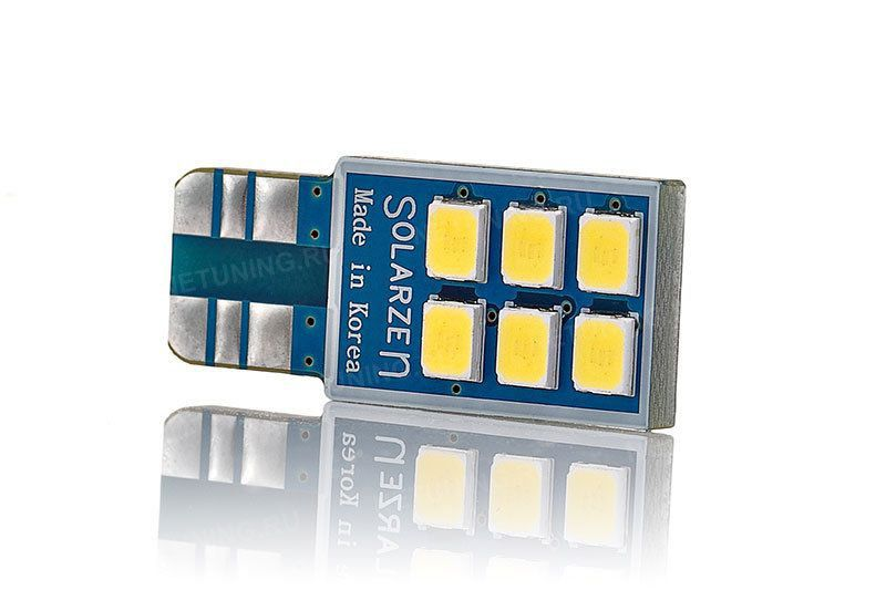 Лицевая сторона лампы LED Solarzen W5W