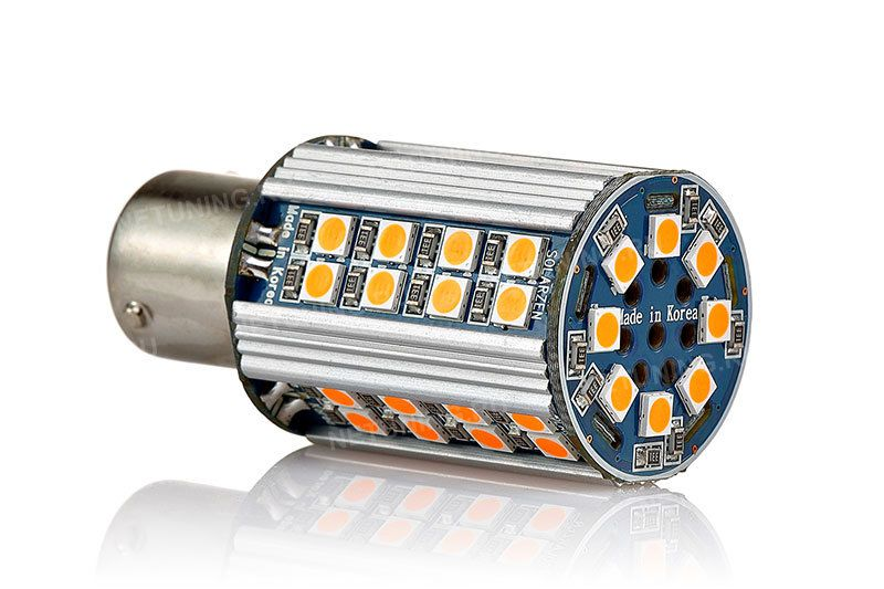 Расположение светодиодов на лампе P21W-48s30