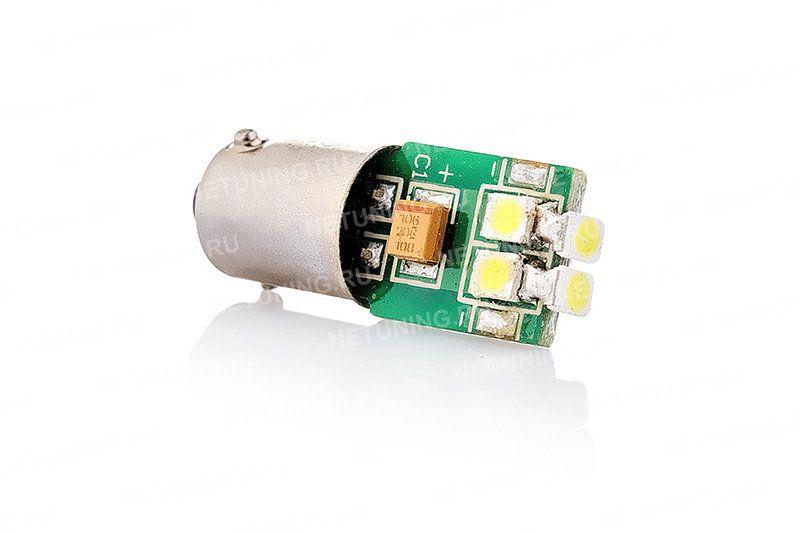 Лампа T4W-6s35 с шестью светодиодами