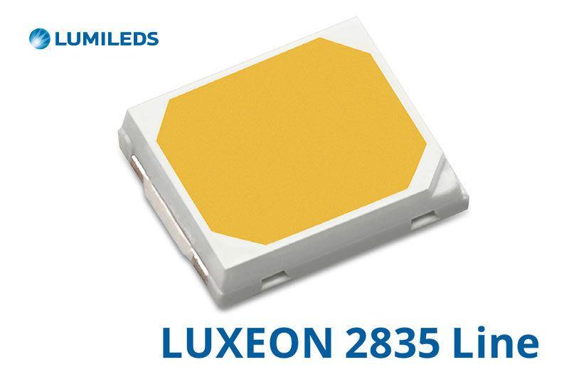 В лампочке W5W-6L используются 6 чипов lumileds luxeon 2835