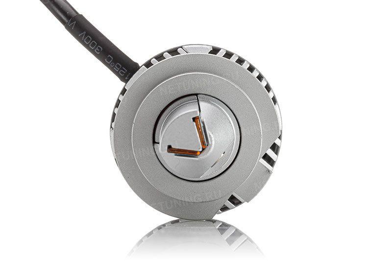 Светодиодные лампы H7-40W  дают правильную СТГ