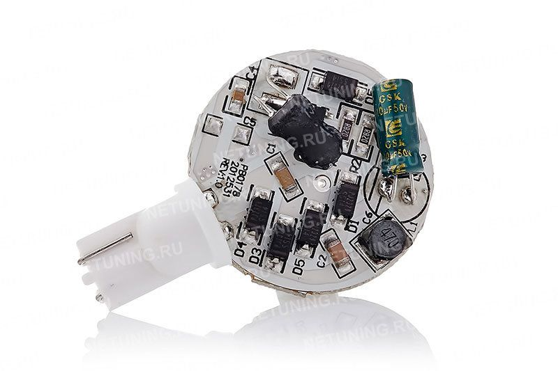 Светодиодная лампа W5W-10s50o со стабилизатором