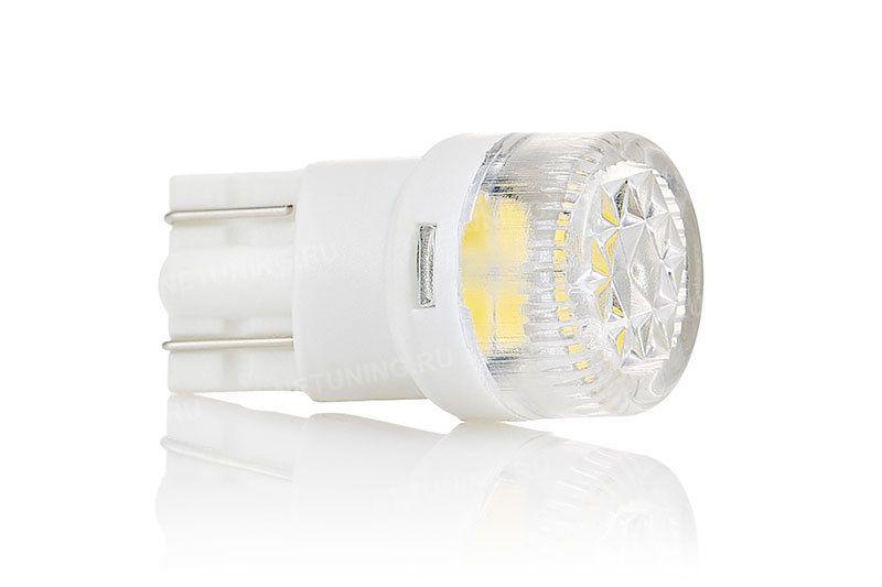 Светодиодная лампа Solarzen W5W-2s56 с рассеивающей линзой