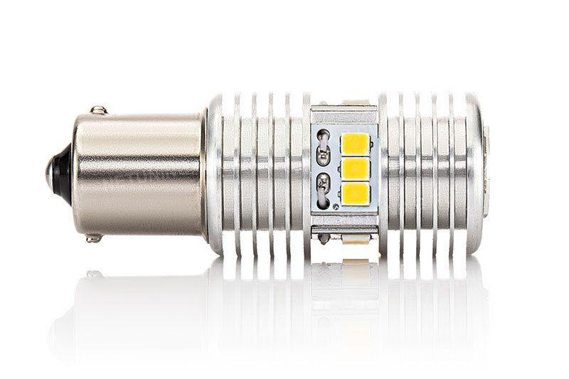 Светодиодная автомобильная лампа P21W светодиоды там где нить накаливания