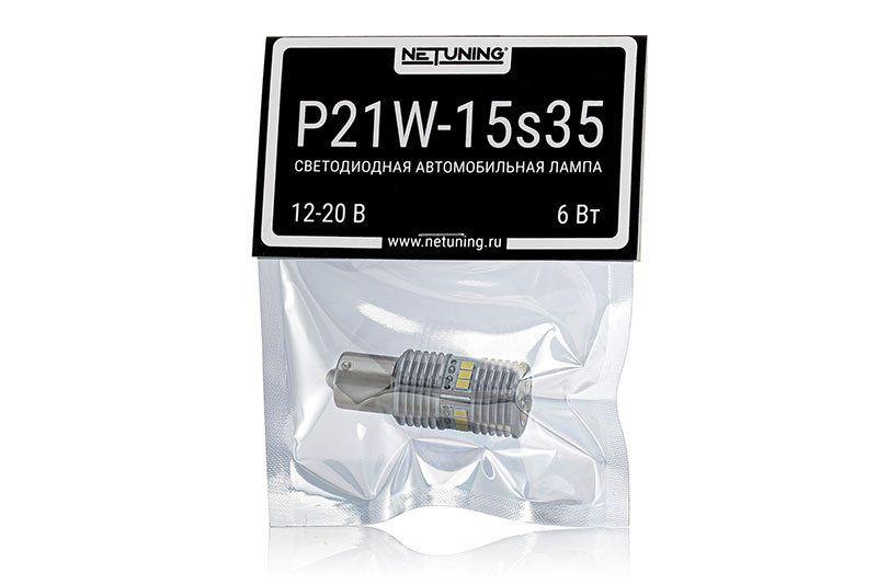 Светодиодная автомобильная лампа P21W-15s35