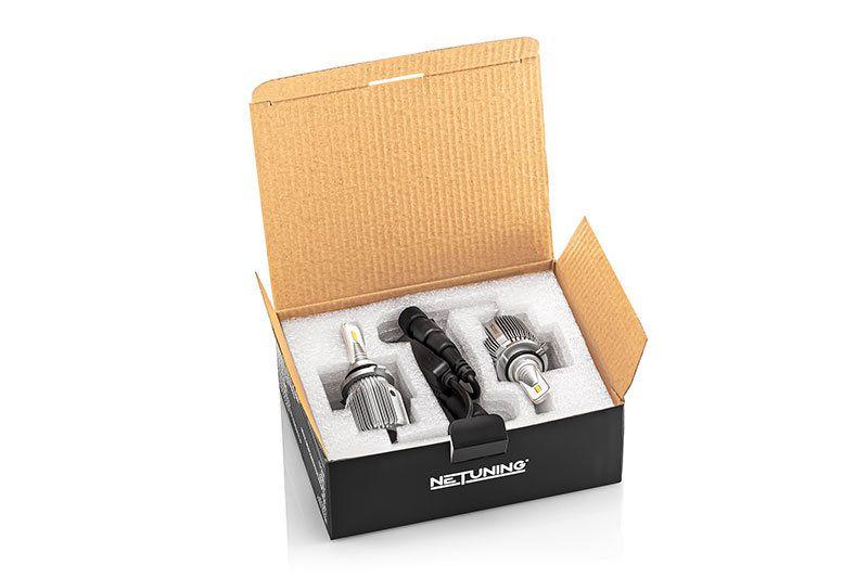 Внешний вид упаковки комплекта лед лампочек 9006 hb4