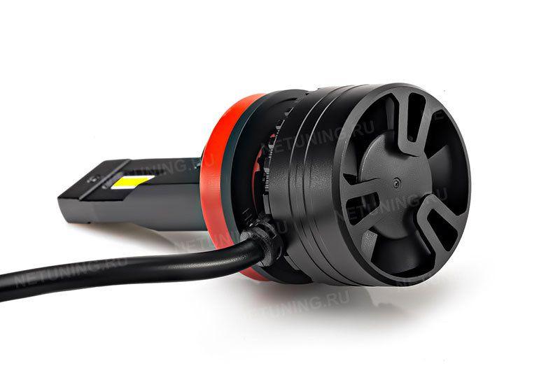 Светодиодная лампа H11-45W с вентилятором, радиатором и теплопроводной трубкой