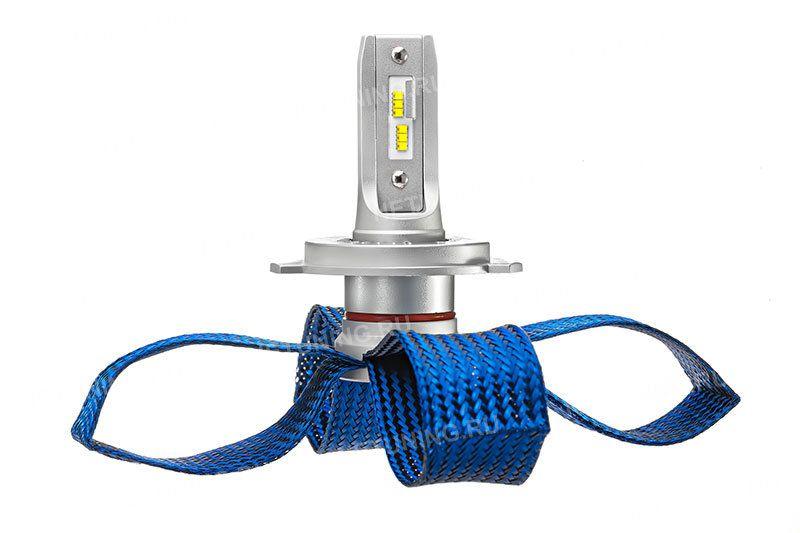 Светодиоды лампы h4-5s+ расположены в ряд