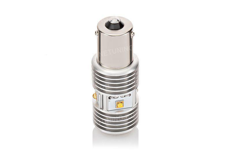 Светодиодная автомобильная лампа PY21W-6HL цоколь со смещенными штифтами