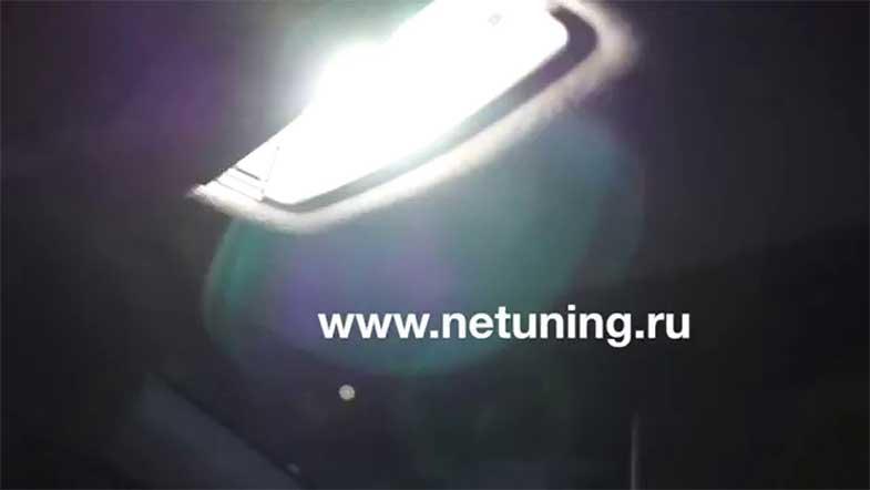 Замена лампы в салоне фольцваген